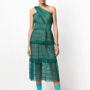 Self Portrait Floral Chain Guipure Dress Size US 0